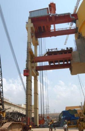 Overpass crane
